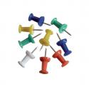 Epingle de fixation tableau liège couleurs assorties boîte de 50