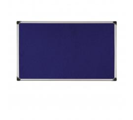 Tableau d'affichage 90x60 tissu bleu cadre aluminium