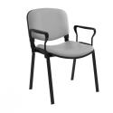 Chaise Iso Structure Noir avec Accoudoirs