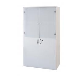 Elément Milano Moyen A 2 Porte Bas Et 2 Portes Alluminium verre sablé