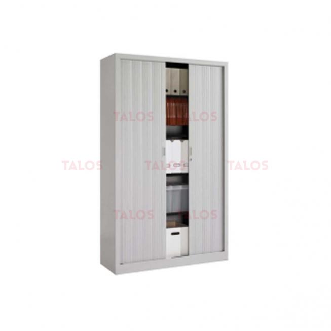Armoire métallique gris à rideau gm H/1980 P/450 L 1200