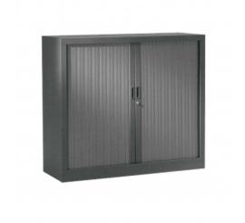 Armoire métallique gris à rideau pm H/1050 L/1200 P/450
