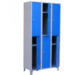 Vestiaire métallique à 6 Cases H/1850 L/900 P/450