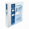 Classeur Exacompta Pvc blanc personnalisable à 4 anneaux dos 50