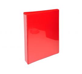 Classeur Exacompta Pvc rouge personnalisable à 4 anneaux dos 16