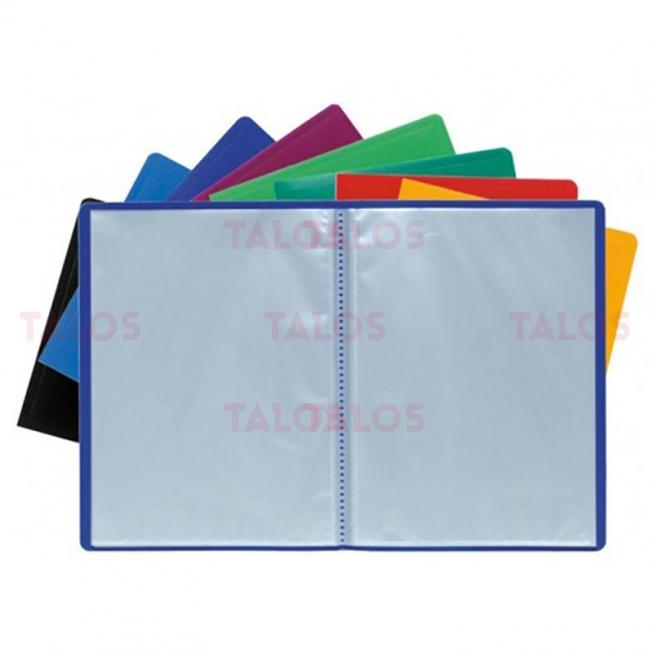 Porte documents Exacompta A4 polypropylène 140 vues couleurs assorties