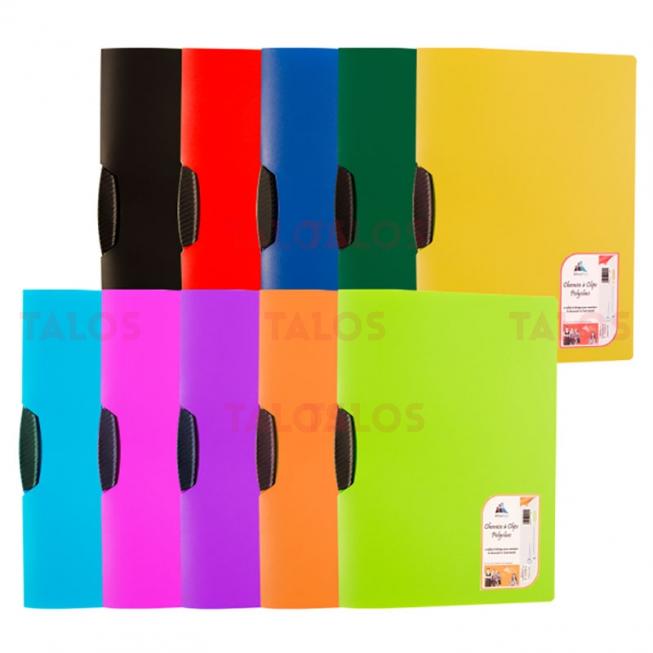 Chemise à clip en polypropylène polyclass Office plast