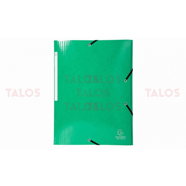 Chemise 3 rabats Exacompta cartonnés vert