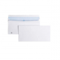 Enveloppe blanche 120x176 bande adhésive 80 Gr