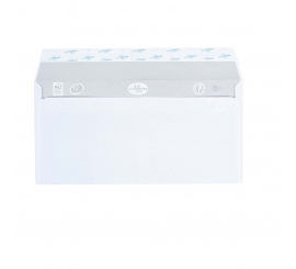Enveloppe blanche 11x22 bande adhésive 80 Gr