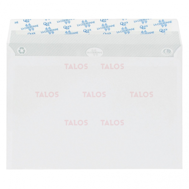 Enveloppe blanche 162x229 bande adhésive 80 Gr