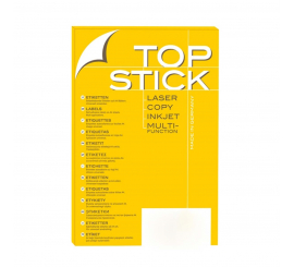 Etiquette Top stick 38.1 x 21.2 mm (A4/65) Paquet de 100