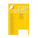 Etiquette Top stick 105 x48 mm (A4/12) Paquet de 100