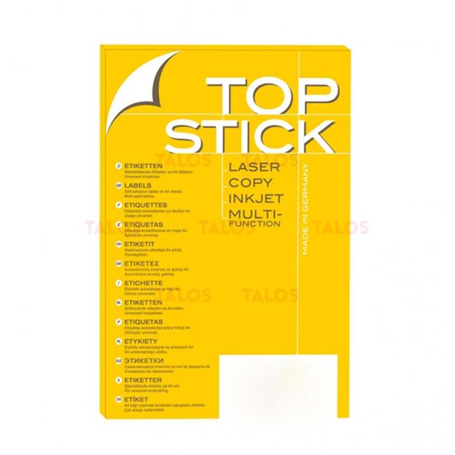 Etiquette Top stick 105x57mm (A4/10) Paquet de 100