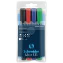 Pochette de 4 marqueurs permanents maxx 133 couleurs assorties