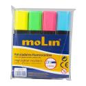 Marqueur Fluorescent Molin pochette de 4