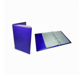 Porte carte visite Apli avec anneaux bleu