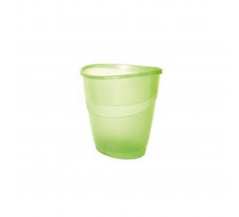 Corbeille à papier Arda transparent vert 16 litre