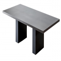 Table de réunion Cuba Wengué 240x120 piètements en simili cuir
