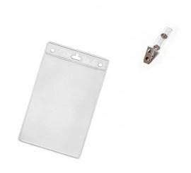 Porte badge avec clip