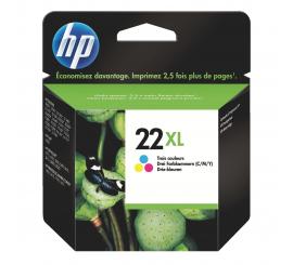 Cartouche HP 22XL haute capacité 3 couleurs