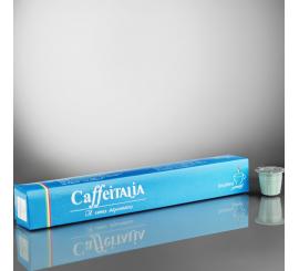 Paquet de 10 Capsules café CAFFÉITALIA compatible NESPRESSO DECAFEINE