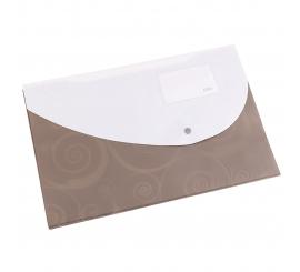 Pochette avec bouton A4 en polypropylène +porte carte visite