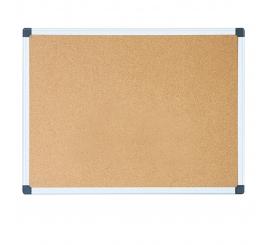 Tableau affichage DELI liège cadre aluminium 90x120