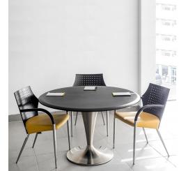 Table de réunion Conique diamètre 120 socle Inox