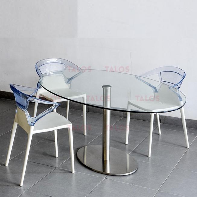 Table de réunion Ellitico socle Inox