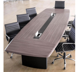 Table de réunion Iris en PVC 4m