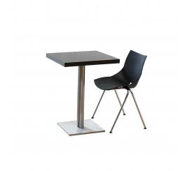 Table Inox carré 80x80 en bois stratifié