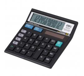 Calculatrice Deli 12 chiffres Easy noir