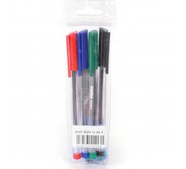Pochette de 4 stylos à billes Vilaluxe