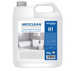 Détergent désinfectant sanitaires concentré NEOCLEAN H1 CC-BIDON DE 5L