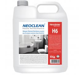 Détergent désinfectant fort NEOCLEAN H6 CC Bidon de 5L