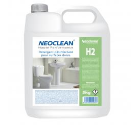 Détergent désinfectant pour surfaces dures NEOCLEAN H2 bidon de 5L