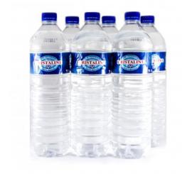 pack de 6 bouteille d'eau cristaline 1.5L
