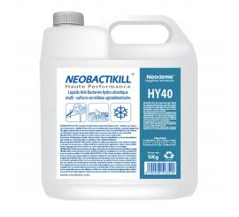 LIQUIDE ANTIBACTÉRIEN HYDROALCOOLIQUE NEOBACTIKILL HY40 bidon de 5L