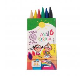 Boite de 6 crayons pastels couleurs assorties