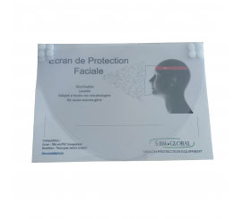 boite de 4 recharge ecran de protection faciale pour adultes