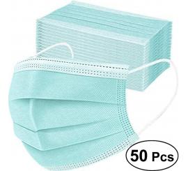 Masque chirurgical à usage unique avec fils vert boite de 50