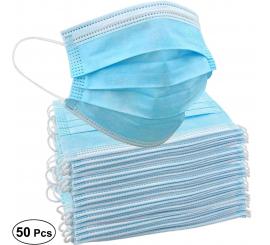 Masque chirurgical à usage unique avec fils bleu boite de 50