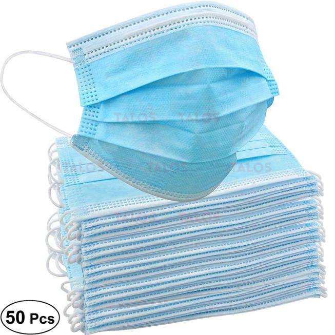 Masque chirurgical à usage unique avec fils bleu