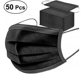Masque chirurgical à usage unique avec fils noir boite de 50