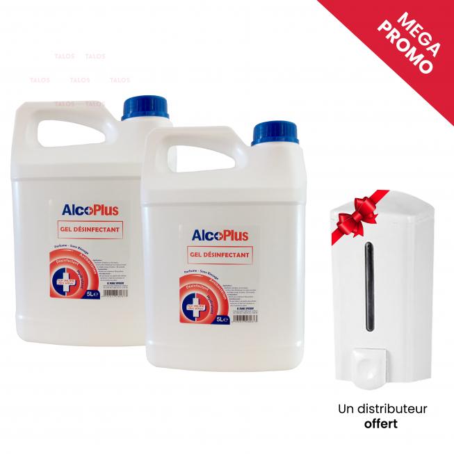 pack désinfectant distributeur + gel hydroalcoolique
