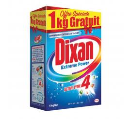 Lessive poudre pour machine dixan 4kg + 1 kg gratuit