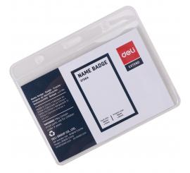 Porte badge PVC horizontal DELI 95X68 mm Paquet de 50
