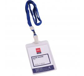 Porte badge PVC vertical DELI 95X68MM avec fil paquet de 50