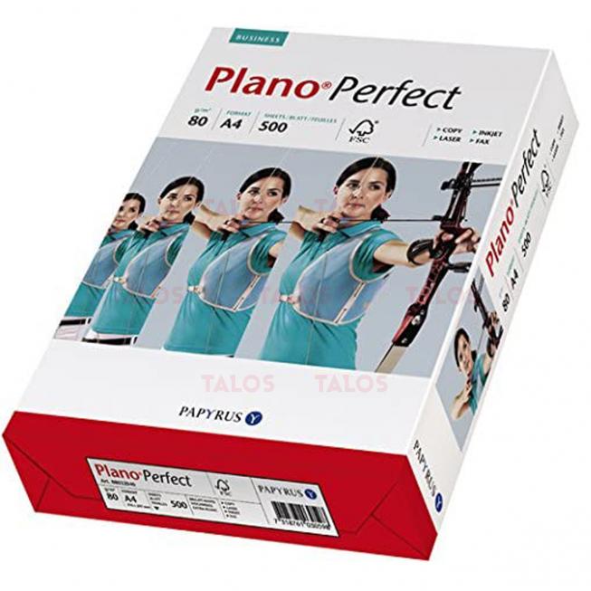 Rame de Papier A4 blanc 80 g PLANO PERFECT 500 Feuilles